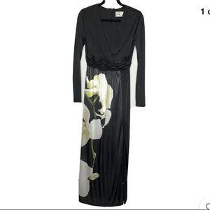 ALTUZARRA Target Floral Print V-Neck Maxi Dress